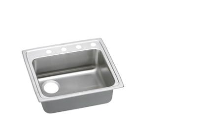 "Image for Elkay Lustertone Stainless Steel 25"" x 21-1/4"" x 5-1/2"", Single Bowl Top Mount Sink from ELKAY"