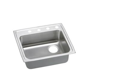 "Image for Elkay Lustertone Stainless Steel 25"" x 21-1/4"" x 4"", Single Bowl Top Mount Sink from ELKAY"