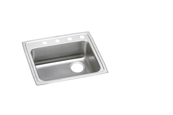 "Elkay Lustertone Stainless Steel 25"" x 21-1/4"" x 5-1/2"", Single Bowl Top Mount ADA Sink"