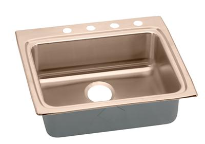 "Image for Elkay CuVerro Antimicrobial Copper 25"" x 22"" x 4-1/2"", Single Bowl Top Mount Sink from ELKAY"