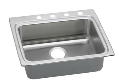 "Image for Elkay Lustertone Stainless Steel 25"" x 22"" x 4"", Single Bowl Top Mount Sink from ELKAY"
