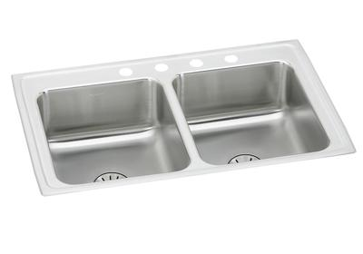 "Image for Elkay Lustertone Classic Stainless Steel 29"" x 18"" x 6-1/2"", Equal Double Bowl Drop-in ADA Sink with Perfect Drain from ELKAY"