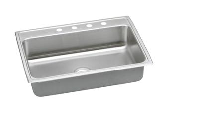 "Image for Elkay Lustertone Stainless Steel 31"" x 22"" x 6"", Single Bowl Top Mount ADA Sink from ELKAY"
