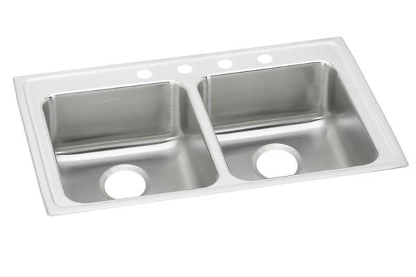 elkay lustertone stainless steel 33   x 19 1 2   x 5 1 2   equal double bowl top mount ada sink lrad331955 elkay lustertone stainless steel 33 u0026 34  x 19 1 2 u0026 34  x 7 5 8 u0026 34      rh   elkay com
