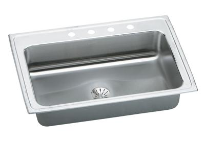 "Image for Elkay Gourmet Stainless Steel 33"" x 22"" x 7-5/8"", Single Bowl Top Mount Sink with Perfect Drain from ELKAY"
