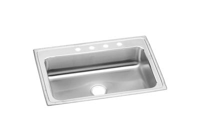 "Image for Elkay Lustertone Stainless Steel 33"" x 22"" x 7-5/8"", Single Bowl Top Mount Sink from ELKAY"