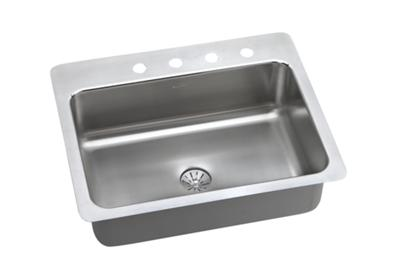 "Image for Elkay Lustertone Stainless Steel 27"" x 22"" x 8"", Single Bowl Dual Mount Sink with Perfect Drain from ELKAY"