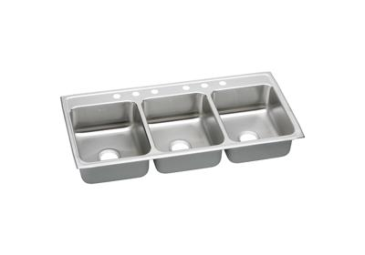 "Image for Elkay Gourmet Stainless Steel 46"" x 22"" x 7-5/8"", Triple Bowl Top Mount Sink from ELKAY"