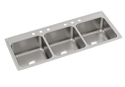 "Image for Elkay Lustertone Stainless Steel 63"" x 22"" x 10-1/8"", Triple Bowl Top Mount Sink from ELKAY"