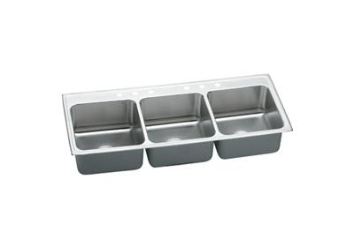"Image for Elkay Gourmet Stainless Steel 63"" x 22"" x 10-1/8"", Triple Bowl Top Mount Sink from ELKAY"