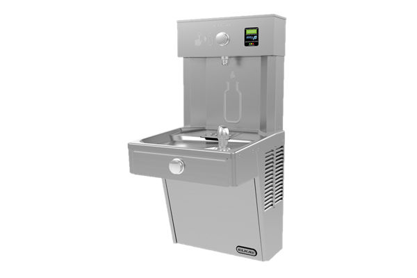 Elkay EZH2O Bottle Filling Station with Single Cooler Filtered, 8 GPH Vandal-Resistant Stainless 220V