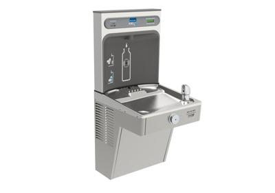 Image for Elkay EZH2O Bottle Filling Station with Single Green, Vandal-Resistant Cooler Filtered 8 GPH Stainless from ELKAY