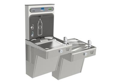 Image for Elkay EZH2O Bottle Filling Station with Bi-Level Green, Vandal-Resistant Cooler Filtered 8 GPH Stainless from ELKAY