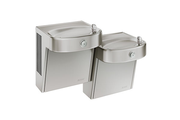 Elkay Cooler Bi-Level Wall Mount ADA Filtered Non-Refrigerated, Stainless