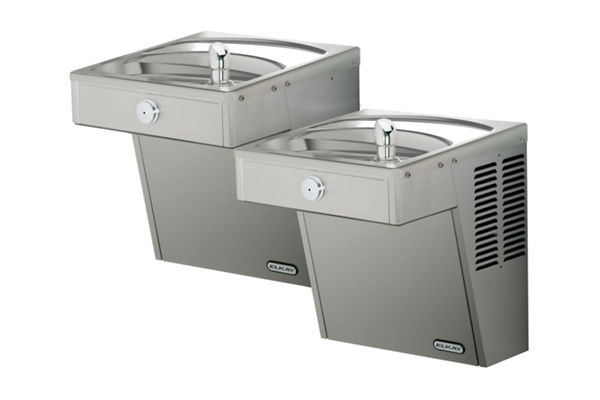 Elkay Cooler Wall Mount Bi-Level ADA Vandal-Resistant Filtered, 8 GPH Stainless
