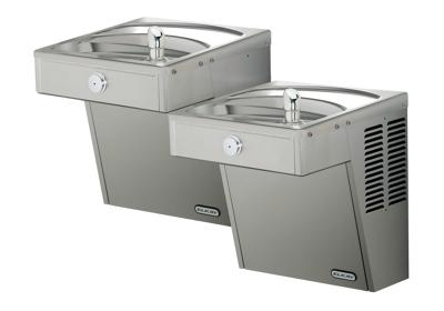 Image for Elkay Cooler, Wall Mount, Bi-Level, ADA, Vandal-Resistant, Filtered, Non-Refrigerated, Stainless from ELKAY