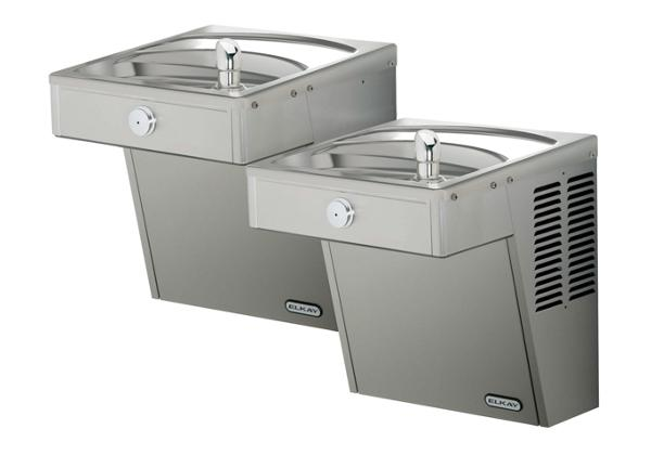 Image for Elkay Cooler Wall Mount Bi-Level ADA Vandal-Resistant, Filtered 8 GPH Stainless 220V from Elkay Latin America