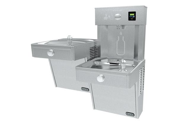 Image for Elkay EZH2O Bottle Filling Station with Bi-Level, Vandal-Resistant Cooler Filtered 8 GPH Vandal-Resistant, Stainless 220V from Elkay Latin America