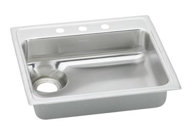 "Image for Elkay Gourmet Stainless Steel 25"" x 22"" x 6-1/8"", Single Bowl Top Mount Sink from ELKAY"
