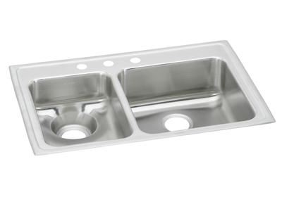 "Image for Elkay Lustertone Classic Stainless Steel 33"" x 22"" x 7-5/8"", 40/60 Double Bowl Top Mount Sink from ELKAY"