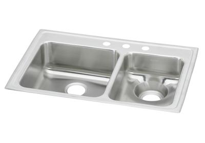"Image for Elkay Lustertone Classic Stainless Steel 33"" x 22"" x 7-5/8"", 60/40 Double Bowl Top Mount Sink from ELKAY"