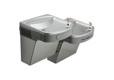 Image for Elkay Versatile Cooler Wall Mount Bi-Level ADA Hands-Free, Filtered 8 GPH Light Gray Granite 220V from ELKAY