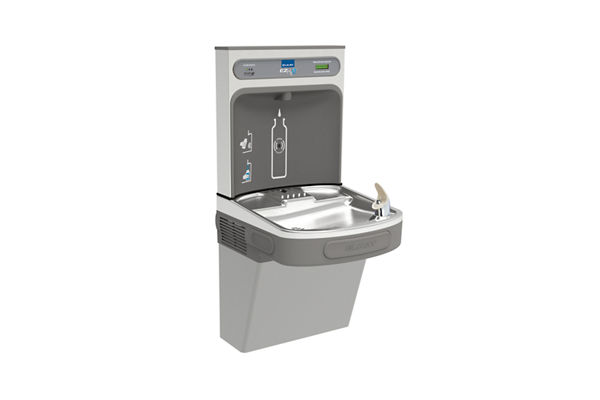 Elkay EZH2O Bottle Filling Station with Single ADA Cooler, Filtered 8 GPH Light Gray 220V