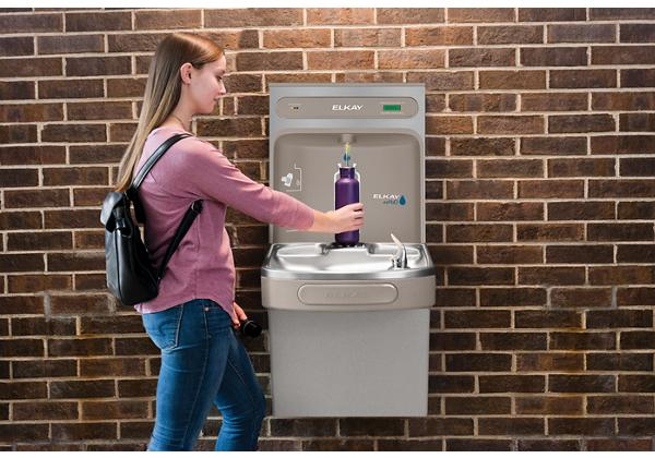 Image for Elkay EZH2O Bottle Filling Station with Single ADA Cooler, Filtered 8 GPH Light Gray from Elkay Latin America