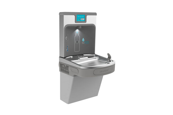 Elkay Enhanced EZH2O Bottle Filling Station with Single ADA, Cooler Filtered 8 GPH Light Gray