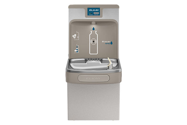 Elkay Enhanced EZH2O Bottle Filling Station & Single ADA Cooler, Filtered 8 GPH Light Gray