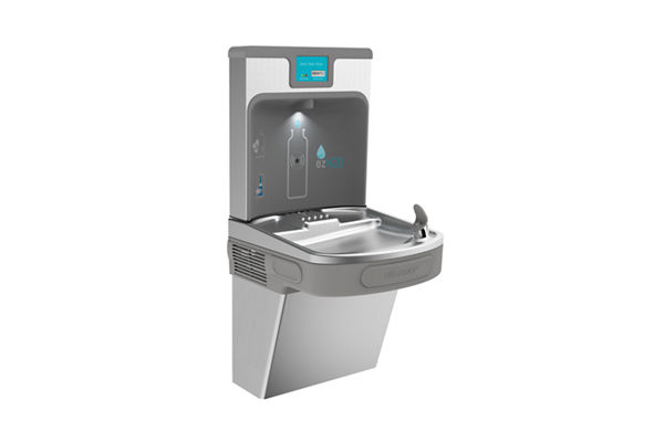 Elkay Enhanced EZH2O Bottle Filling Station with Single ADA, Cooler Filtered 8 GPH Stainless