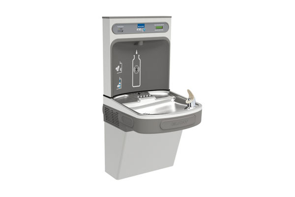 Elkay EZH2O Bottle Filling Station with Single ADA Cooler, Filtered Non-Refrigerated Stainless 220V