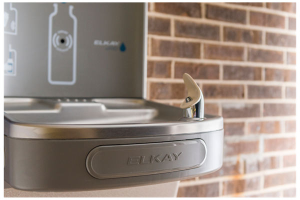 Elkay EZH2O Bottle Filling Station with Single Green ADA Cooler, Filtered, 8 GPH, Light Gray