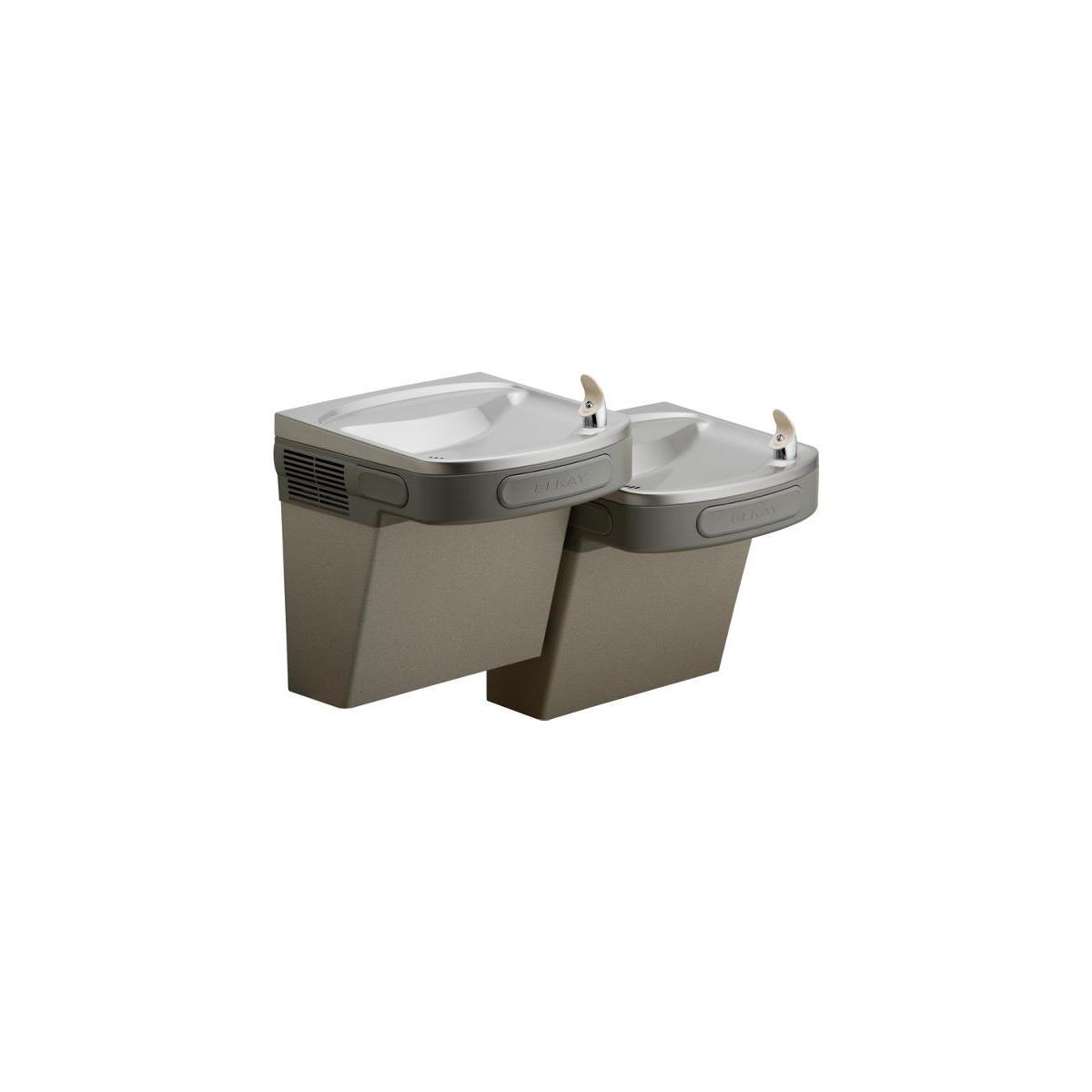Elkay Versatile Cooler Wall Mount Bi-level ADA Filtered, 8 GPH Light Gray Granite 1281915