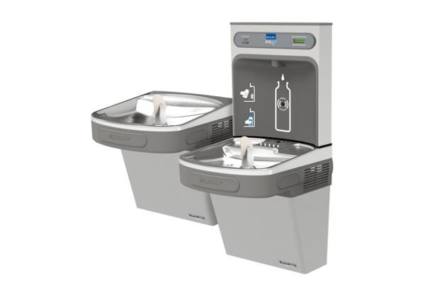 Image for Elkay EZH2O Bottle Filling Station with Versatile Bi-Level ADA, Cooler Filtered 8 GPH Light Gray 220V from Elkay Latin America