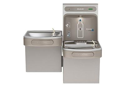 Image for Elkay EZH2O Bottle Filling Station & Versatile Bi-Level ADA Cooler, Filtered Non-Refrigerated Light Gray from ELKAY