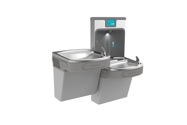 Elkay Enhanced EZH2O Bottle Filling Station with Bi-level ADA, Cooler Filtered 8 GPH Light Gray