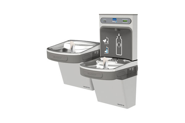 Elkay EZH2O Bottle Filling Station with Versatile Bi-Level ADA, Cooler Filtered 8 GPH Stainless 220V