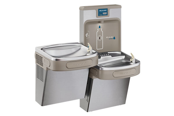 Elkay Enhanced EZH2O Bottle Filling Station, & Versatile Bi-Level ADA Cooler, Filtered 8 GPH Stainless