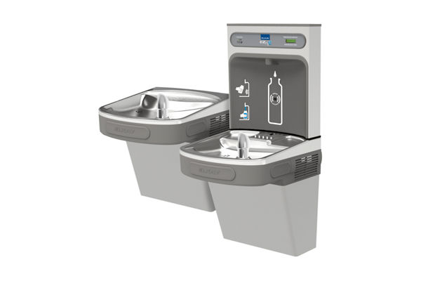 Elkay EZH2O Bottle Filling Station with Versatile Bi-Level ADA, Cooler Filtered 8 GPH Light Gray 220V