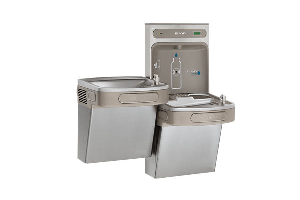 Elkay EZH2O Bottle Filling Station & Versatile Bi-Level ADA Cooler, Filtered 8 GPH Stainless