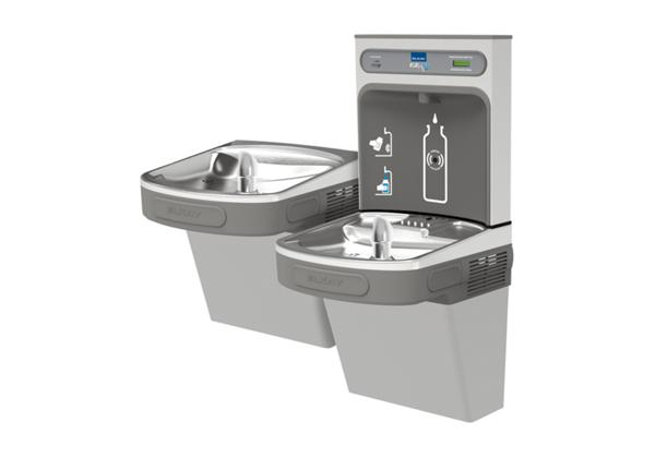 Image for Elkay EZH2O Bottle Filling Station & Versatile Bi-Level ADA Cooler, Filtered Non-Refrigerated Light Gray from Elkay Latin America