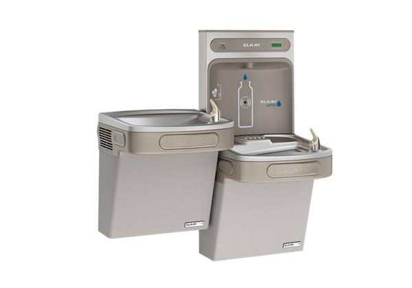 Image for Elkay EZH2O Bottle Filling Station & Versatile Bi-Level ADA Cooler, High Efficiency Filtered 8 GPH Light Gray from Elkay Latin America
