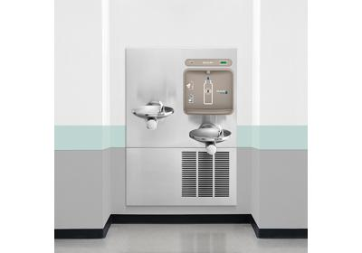 Image for Elkay EZH2O Bottle Filling Station with Integral Refrigerated, SwirlFlo Fountain Filtered 8 GPH Stainless from ELKAY