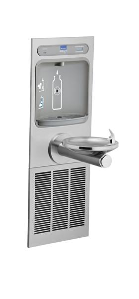 image for elkay ezh2o bottle filling station with integral swirlflo fountain filtered stainless from - Elkay Drinking Fountain