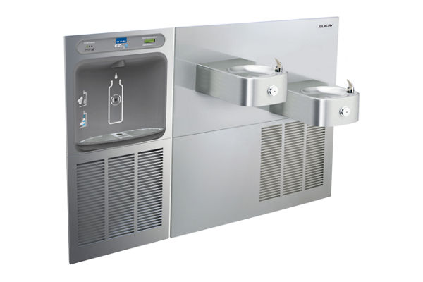 Elkay EZH2O Bottle Filling Station & Soft Sides Bi-Level Fountain, Filtered 8 GPH Stainless