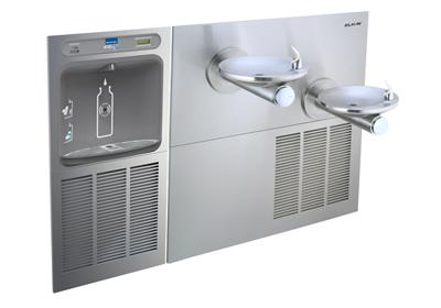 Image for Filtered EZH2O® Bottle Filling Station with SwirlFlo® Green Bi-Level Refrigerated Fountain from elkay-consumer