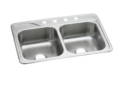 "Image for Elkay Stainless Steel 33"" x 22"" x 8"", Double Bowl Top Mount Sink from ELKAY"