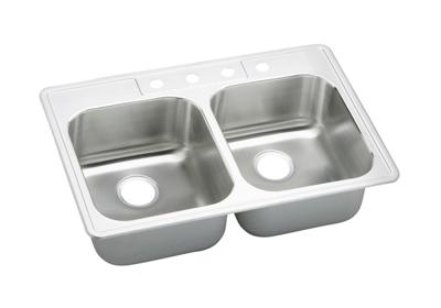 "Image for Elkay Stainless Steel 33"" x 22"" x 9-1/16"", Double Bowl Top Mount Sink from ELKAY"
