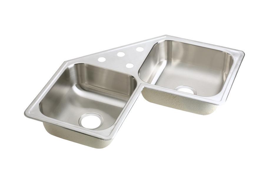 ELKAY   Corner Stainless Steel Kitchen Sinks